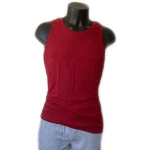 mannen mouwloos t-shirt rood