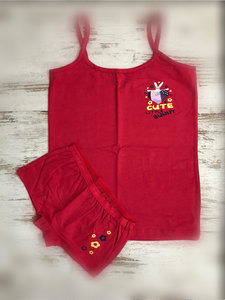 DICE Ondergoed set Top & Hipster Cute little Bunny rood