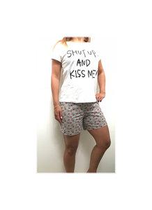 DICE Huispak / Pyjama Shut up and Kiss me Set Wit