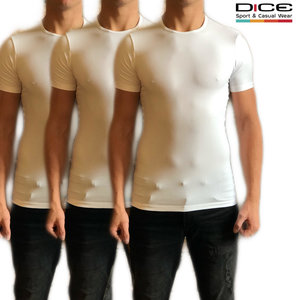 3-pack heren t-shirt wit
